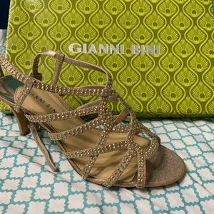 Gold sparkly high heels from GIANI BINI!